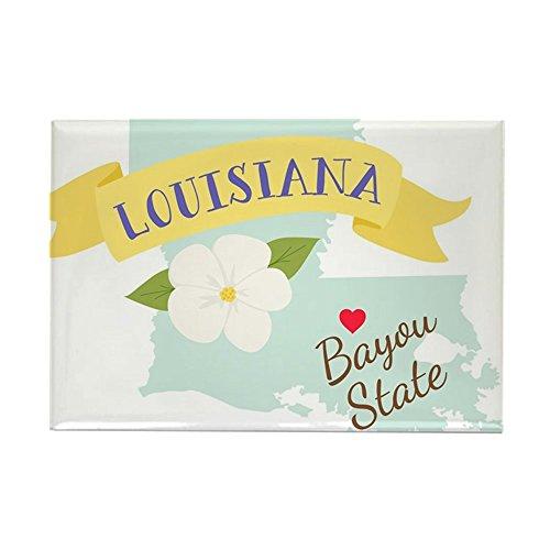 CafePress–Louisiana Bayou State Outline Magnolia Flower Magn–Rechteck Magnet, 5,1x 7,6cm Kühlschrank Magnet (Flower Magnolia State)