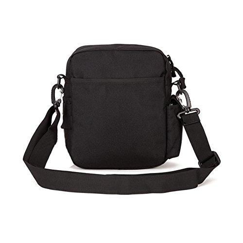 YAAGLE Reisetasche Kuriertasche outdoor Sporttasche Schultertasche Freitzeit Gepäck wasserdicht Umhängetasche Fahrrad Trinkblasenfach Herren Taschen-schwarz schwarz