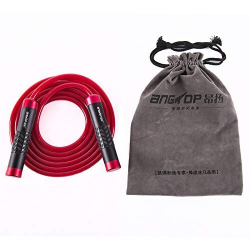 Fitness Gewicht Lager Aluminiumlegierung Metall Professionelle Springseil Student Erwachsenenbildung Liefert PVC Gummiseil,Red -
