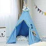 MAIBEI Kids Play Tent Tunnel mit Spielzeug für Jungen Girls Babies und Kleinkinder Prinzessin Castle Zelt für Mädchen Pop bis Zelt rosa Qualität Sicherheit Geburtstagsgeschenk Indoor Outdoor,Blue