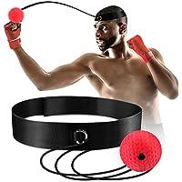 Pelota de boxeo Reflex, bola de lucha Reflex en cuerda con diadema para lucha MMA entrenamiento de velocidad reacciones adultos/niños mejorar el punzón enfoque deporte ejercicio