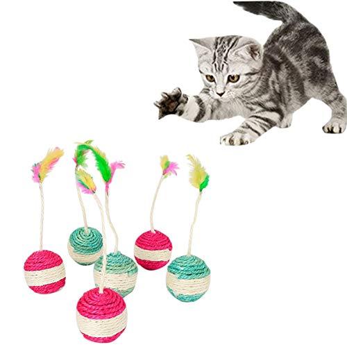 Katzenspielzeug, Katze, Katzenspielzeug, Roller, Sisal, Kratzball, lustig, interaktiv