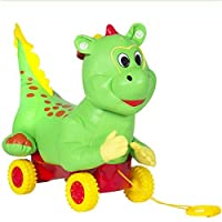 Allows a child to sing-a-long to the different tunes that play when the ear is squeezed;Includes rolling wheels that allow the dragon to be transported easily;Made out of phthalate free material that is easy to clean and capable of being used indoors...