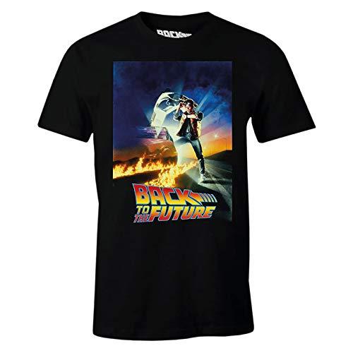 Zurück in die Zukunft Herren T-Shirt Marty McFly Poster Baumwolle schwarz - XXL