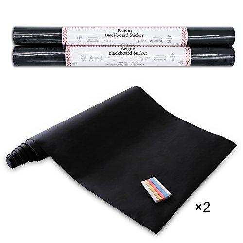 ezigoo-vinilo-pizarra-negra-pizarra-adhesiva-de-papel-adherente-43cm-x-210cm-x-2rodary-5-tizas