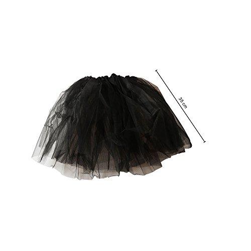 chen Ballett Tutu Tüllrock Partyrock 3-lagig. schwarz. 35cm (Kinder Tutu Schwarz)