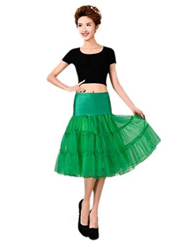 ridal 1950 Petticoat Reifrock Unterrock Petticoat Underskirt Crinoline für Rockabilly Kleid Grün Small (Dj-halloween-kostüme Ideen)