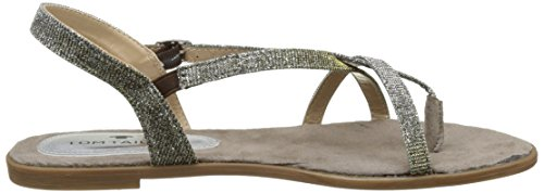 TOM TAILOR Damen 2791805 Zehentrenner Gold (Bronze)