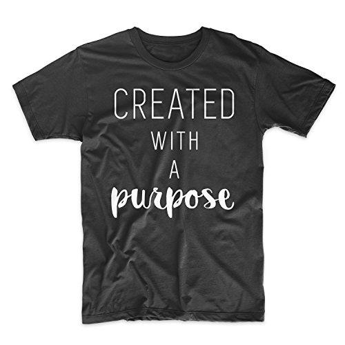 Created With A Purpose Sarcastic Artist Herren T-Shirt Schwarz