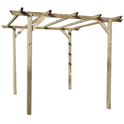 Evergreen gazebo in legno nordico impregnato 300x300x250cm giardino eg51762
