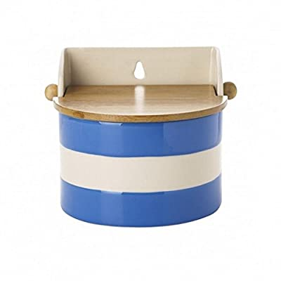 Cornishware Blue and White Stripe Stoneware Salt Box by Cornishware