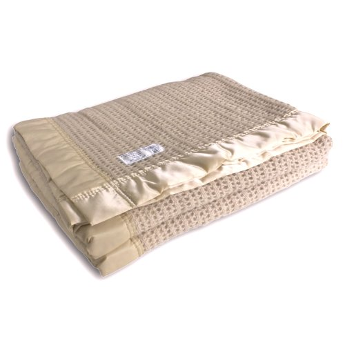 Wool Cellular Blanket King Size 255 x 280cm Champagne from The Wool Company