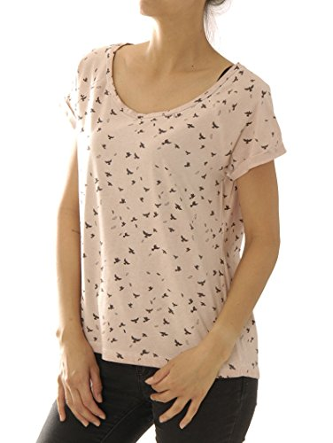 catwalk-junkie-damen-shirt-ts-leaf-birds-usp-1602010236-93-peach-whi-m