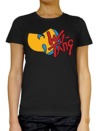 Wu Tang Blue Red Yellow Logo LukeTee Women's T-Shirt Small (Notre-dame-tattoo)
