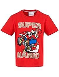 Mario Bros Camiseta de Manga Corta - Manga Corta - para Niño