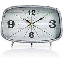 Dannto Retro Reloj del Escritorio Simple de Decorativa Reloj Digital Antiguo Arte para la Decoración de la Sala de Estar(gris-B)