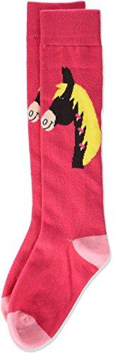 HKM Kinder Kinderreitsocken -Pferdekopf Socken pink, 23/25
