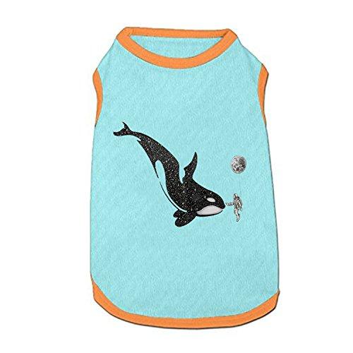 DGGGD Hund Weste, Wale und Astronauten Bedruckt Pet Kleidung Kostüm Kleine Haustiere Hund Puppy Katze Kleidung Bekleidung T Shirt Weste