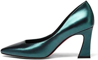 Moda para Mujer del Dedo del Pie Puntiagudo Bloque De Tacón Alto Slip On Trabajo Superficial Fiesta De Bodas Sandalias...