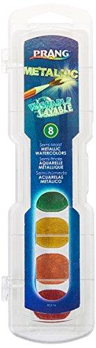 (Metallic Aquarelle, # 9Pinsel, ungiftig, 8Farben, verkauft als 1Set)