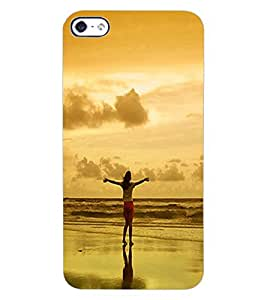ColourCraft Amazing Sunset Design Back Case Cover for APPLE IPHONE 4S