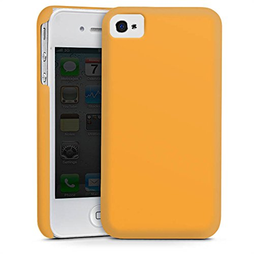 Apple iPhone 4 Housse Étui Silicone Coque Protection Melons Couleur Orange Cas Premium mat