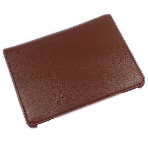 360 Grad drehbar mit AUFSTELLFUNKTION Schutzhülle Schutztasche Tablethülle Tasche Hülle für Samsung Galaxy Tab 8.9 Zoll P7300, braun