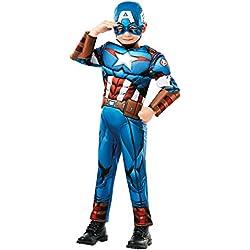 Rubie's 640833M Marvel Avengers Capitán América Deluxe - Disfraz infantil para niño, talla M