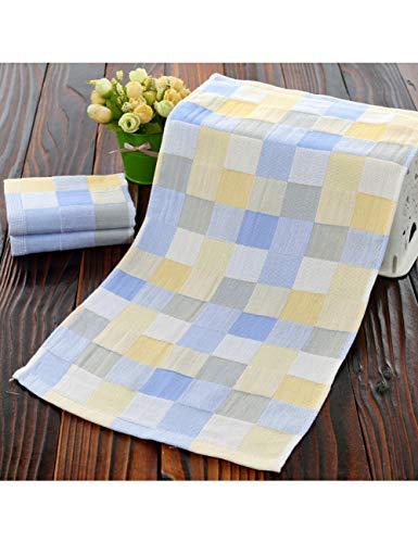 ZLJCC 27X50Cm Reiner Baumwolle Gaze Baumwolle Kind Handtuch Handtuch Home Cleaning Gesicht Für Baby Für Kinder,Blue (Badetücher 27 X 50)