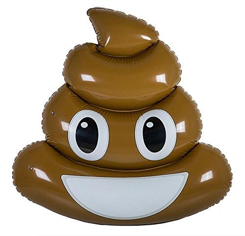 OOTB- Materasso Gonfiabile, Poo Emotion, ca. 140 cm, Colore Marrone, 180, 91/4165