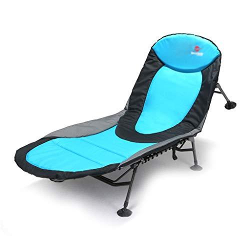 Klappstühle Klappbett Strand Mit Liegestühlen Office Lunch Bed Outdoor Camp Bed Einfache Tragbare Liege Krankenhaus Begleitendes Klappbett Tragfähigkeit 150kg (Color : Blue, Size : 200 * 80 * 30cm) - Arm-futon