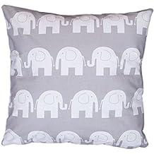 AmilianR Dekokissen Kissenbezug Kissen 80cm X Elefant Grau