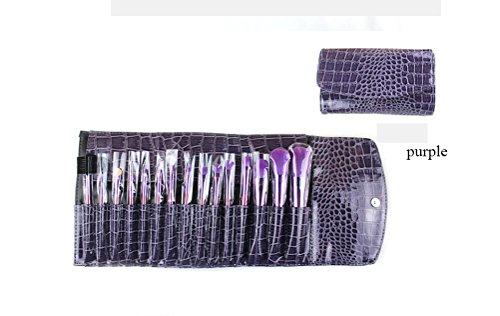 OOYJ 15 Stück Make-up Pinsel Set,Dichte Synthetische Premium Pinselhaare&Holzgriff Foundation Blush...
