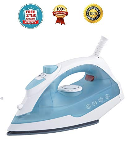 Rico Steam Iron boxs for Clothes Handheld Best Seller Electric 1350w Steam Iron with sprey Premium Coating (2 Year Free Replacement Warranty) Premium Quality Japanese Technology