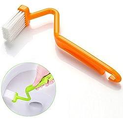 UEETEK 5 en forma de V aseo cepillos esponjas mango limpieza cepillos limpiadores (Color al azar)