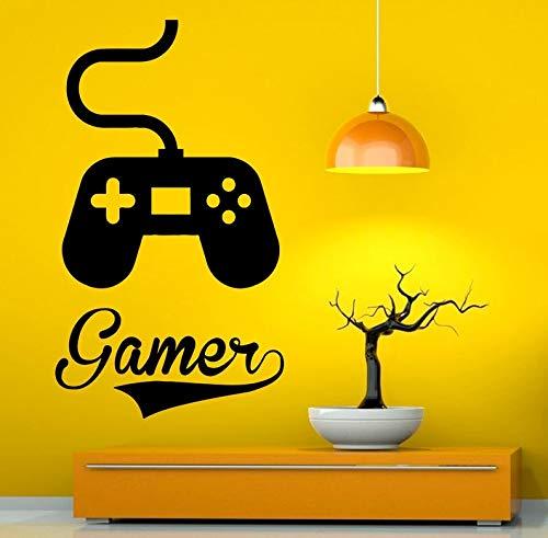 CECILIAPATER Gamer Wandaufkleber aus Vinyl, Joystick Videospiele, lustige Dekoration für Innenraum, Zuhause, 3 g