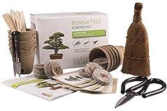 Idea Regalo - KIT ALBERO BONSAI. COMPLETO per coltivare bellissimi kit di giardinaggio Bonsai a casa che include 3 strumenti superiori per bonsai, premium di qualità, set regalo per giardinaggio,idea regalo unica