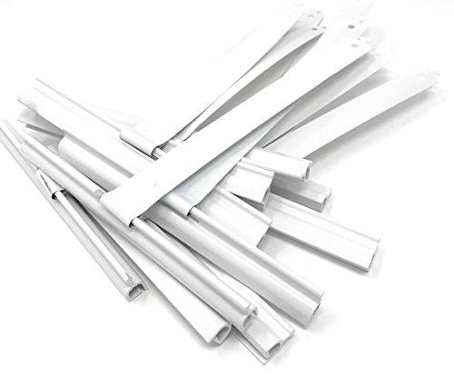 10x Maxi Aufhängefeder Aluminium Aufhänger aus Stahl Weiß Federn Rolladen Rollo Rollladen Stahlfeder Bayram® -