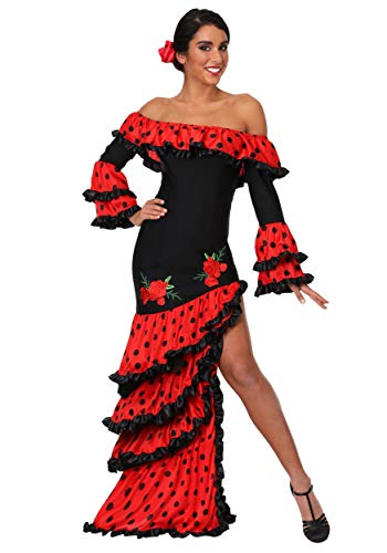 (Women's Spanish Senorita Fancy Dress Costume Large)