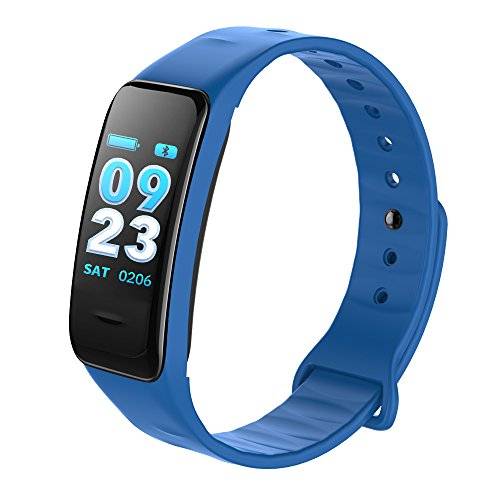 QLshop Hot News Remder Sport Armband Bluetooth Schrittzähler Wasserdicht Smart Armband, blau