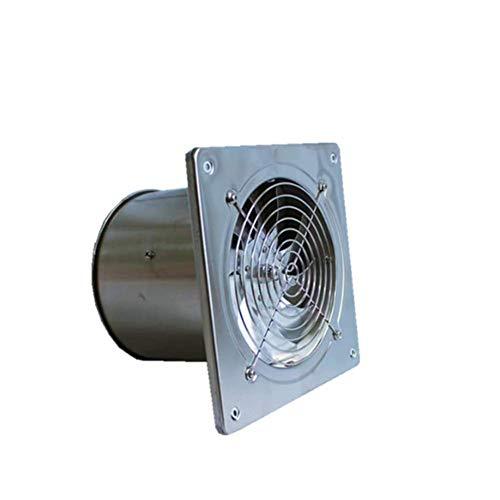 ZQYR Extractor Fans@ Abluftventilator mit elektrischem Innenverschluss und kugelgelagertem, Motor Rostfreier Stahl Küche Geräuschloser leistungsstarker, 190 mm * 190 mm