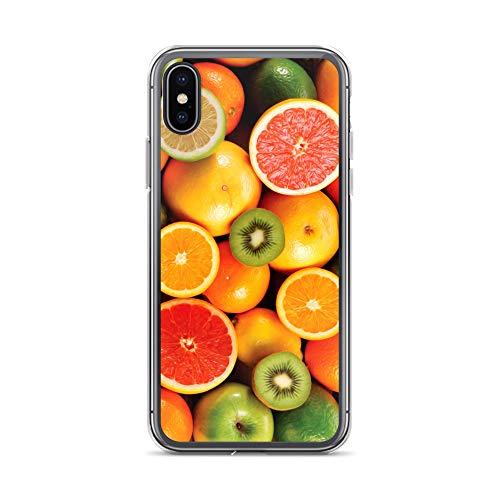 blitzversand Handyhülle Obst kompatibel für Huawei Mate 20 fruchtige Grapefruit Schutz Hülle Case Bumper transparent rund um Schutz M12 - Grapefruit-mate