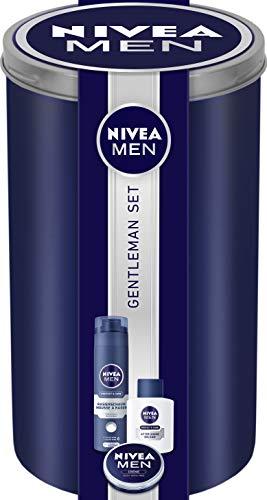 NIVEA MEN Gentleman Geschenkset für die perfekte Rasur, Pflegeset für Männer mit Rasierschaum, After Shave Balsam und Creme, Weihnachtsgeschenke Set für den gepflegten Gentleman