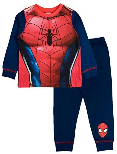 Kinder Jungen Fancy Dress Up Spielen Kostüme/Schlafanzug Nachtwäsche PJ 's Pyjama Set Buzz Lightyear Party Größe UK 2–3Jahre Gr. 7-8 Jahre, Spiderman - No Hood (Jungen 2 Stück Pyjamas Pjs)