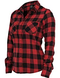 URBAN CLASSICS Ladies Checked Flanell Shirt TB388 slim fit