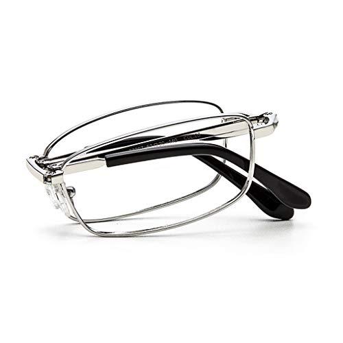 Axclg Reading glasses Trendy Folding Lesebrille für Männer und Frauen/Anti Glare/Vergrößerung 1,0 bis 3,00 Intensität, (Gold, Schwarz, Silber)