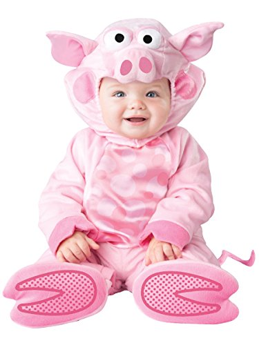 InCharacter Baby's Precious Piggy Costume, Pink, Medium