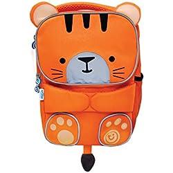 Trunki Sac à Dos - Cartable Haute Visibilité pour Enfants - ToddlePak Tipu le Tigre (Orange)