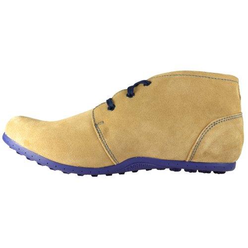 Cuir Pour Hommes cuir suédé Chukka Désert Lacet Tonalité De Remorquage Décontracté Chaussure taille UK 7 25 27 46-47 eu Beige Bleu
