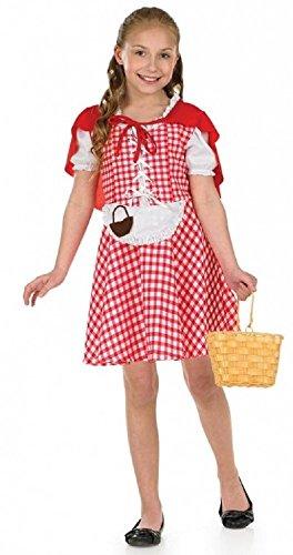 Kleid Gingham Kostüm - Fancy Me Mädchen Gingham Rotkäppchen büchertag Märchen Charakter Kostüm Kleid Outfit 4-12 Jahre - Rot/weiß, 6-8 Years